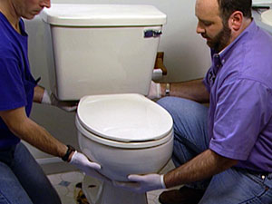 install your toilet for you